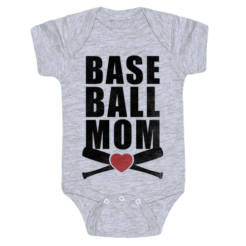 Baseball Mom Baby Onesy