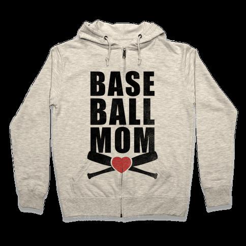 Baseball Mom Zip Hoodie