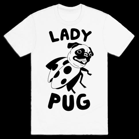 Lady Pug Mens T-Shirt