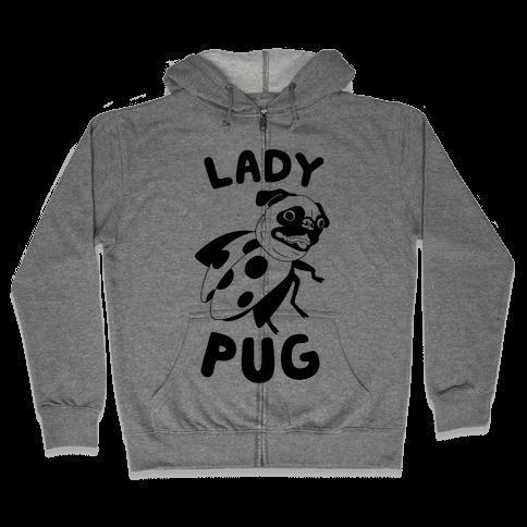 Lady Pug Zip Hoodie