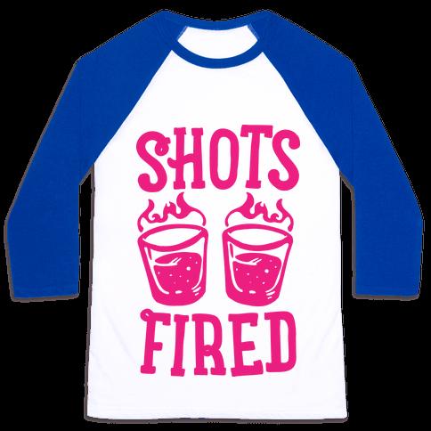 Shots Fired Baseball Tee