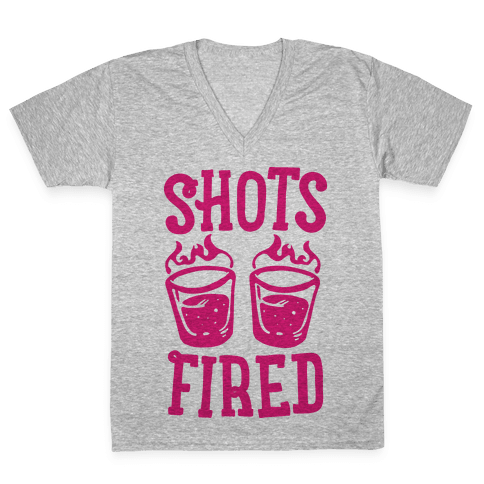 Shots Fired V-Neck Tee Shirt