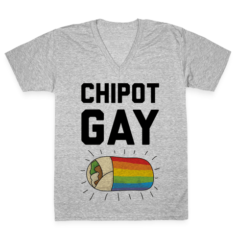 Chipot-Gay V-Neck Tee Shirt