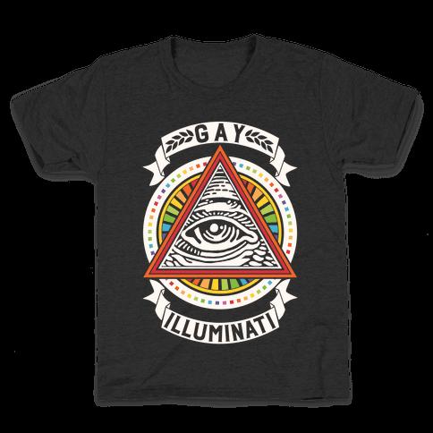 Gay Illuminati Kids T-Shirt