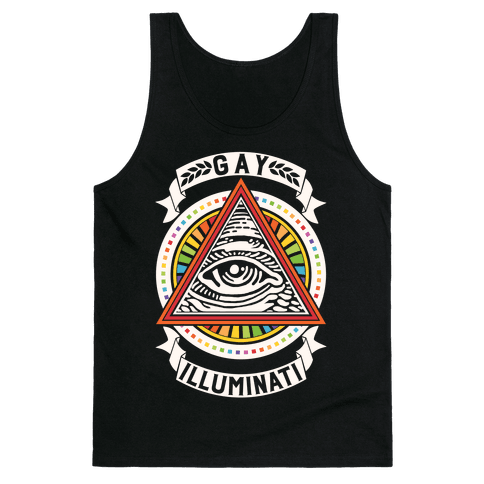 Gay Illuminati Tank Top