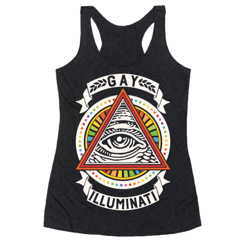 Gay Illuminati Racerback Tank Top