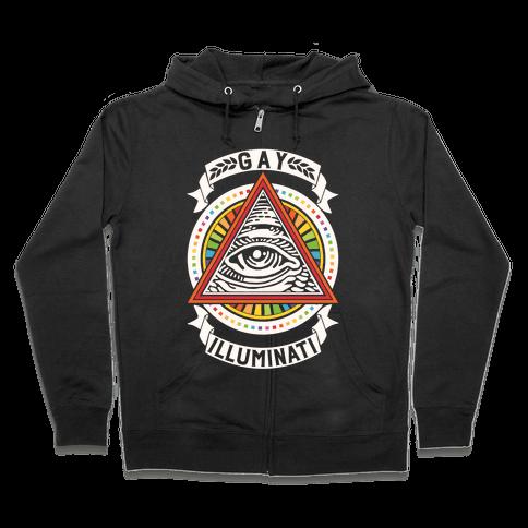 Gay Illuminati Zip Hoodie