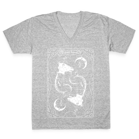 Unicorn Impostor Tarot V-Neck Tee Shirt