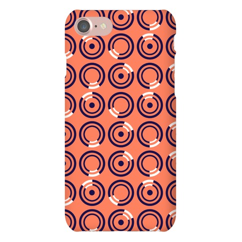 Navy and White Circle Pattern Case Phone Case