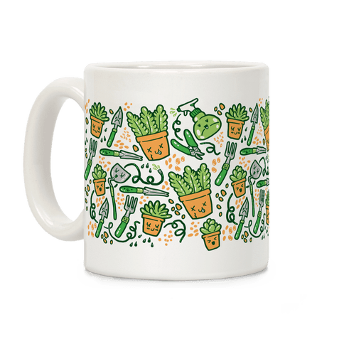 Kawaii Plants and Gardening Tools Coffee Mug
