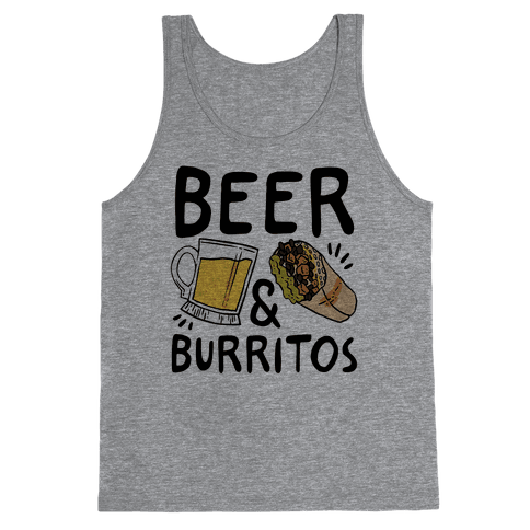 Beer And Burritos Tank Top