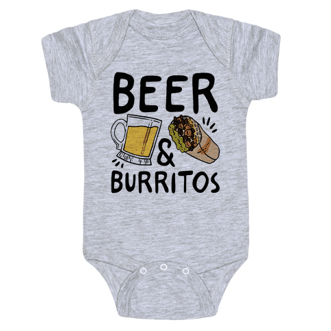 Beer And Burritos Baby Onesy