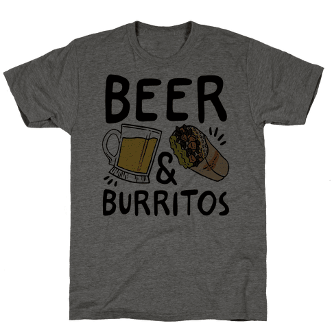 Beer And Burritos Mens T-Shirt