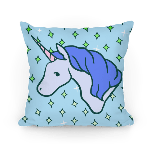 Magical Unicorn (Blue) Pillow