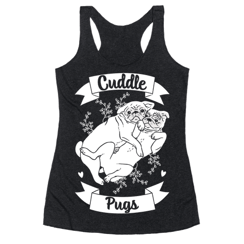Cuddle Pugs Racerback Tank Top