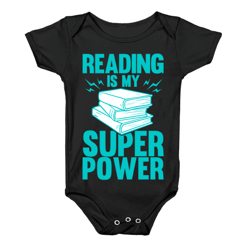 Reading Is My Super Power Baby Onesy