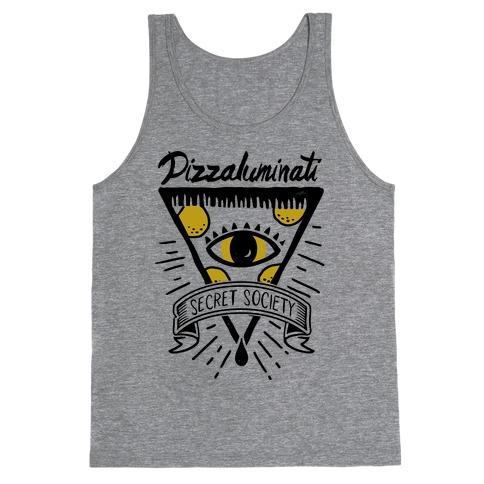 Pizzaluminati Secret Society Tank Top
