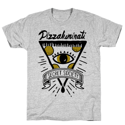Pizzaluminati Secret Society Mens T-Shirt