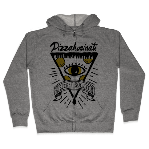 Pizzaluminati Secret Society Zip Hoodie