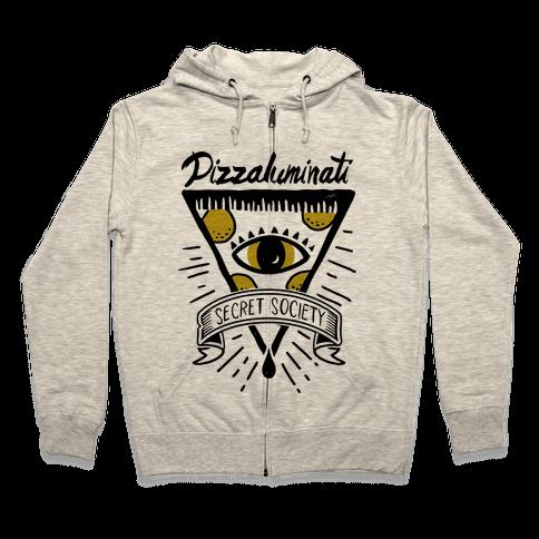 Pizzaluminati Secret Society Zip Hoodie