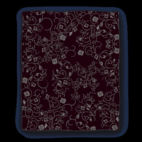 Gothic Flora Pattern Blanket