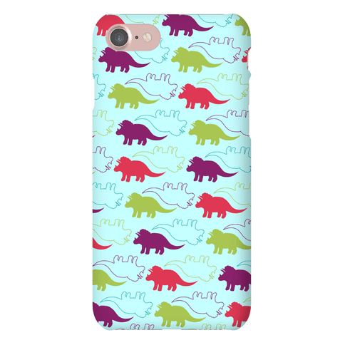 Triceratops Dino Pattern Phone Case