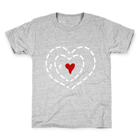 A Heart Two Sizes Too Small (White Ink) Kids T-Shirt