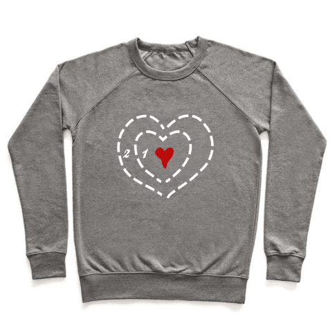 A Heart Two Sizes Too Small (White Ink) Pullover