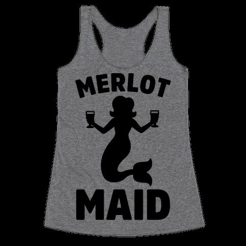 Merlot Maid Racerback Tank Top