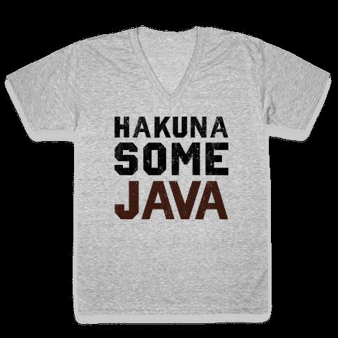 Hakuna Some Java (TANK) V-Neck Tee Shirt