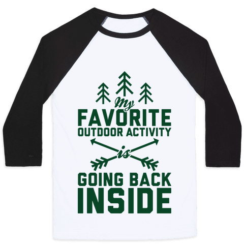 Outdoor Activity Baseball Tee
