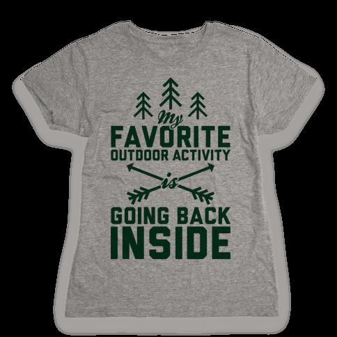 Outdoor Activity Womens T-Shirt