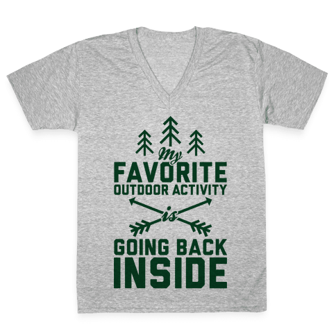 Outdoor Activity V-Neck Tee Shirt