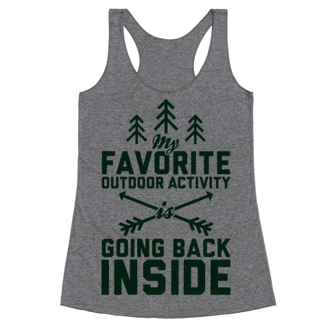 Outdoor Activity Racerback Tank Top