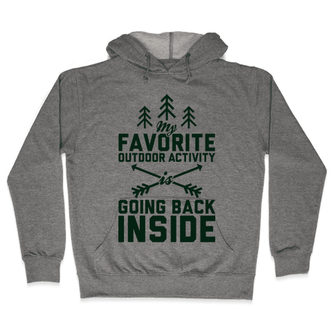 Outdoor Activity Hooded Sweatshirt