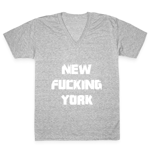 New F***ing York V-Neck Tee Shirt