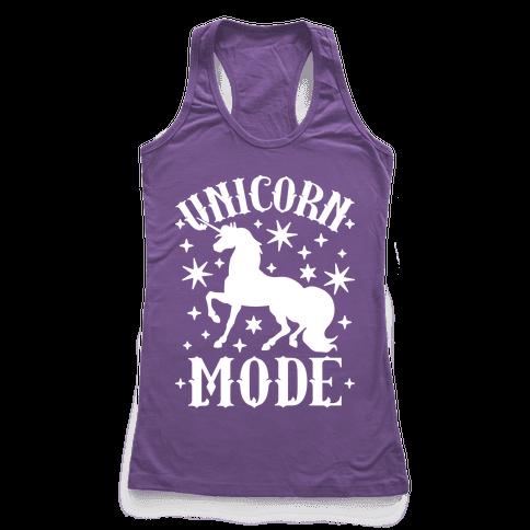 Unicorn Mode Racerback Tank Top