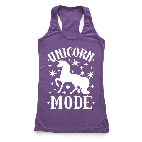 Unicorn Mode Racerback Tank Top