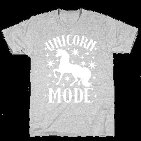 Unicorn Mode Mens T-Shirt