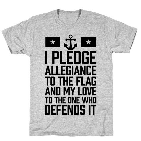 I Pledge Allegiance To The Flag (Navy) T-Shirt