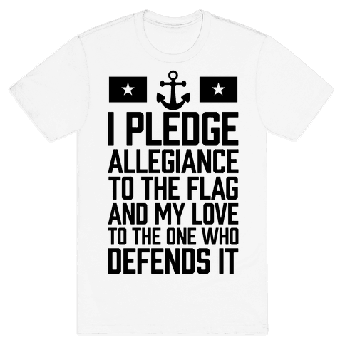 I Pledge Allegiance To The Flag (Navy) Mens T-Shirt