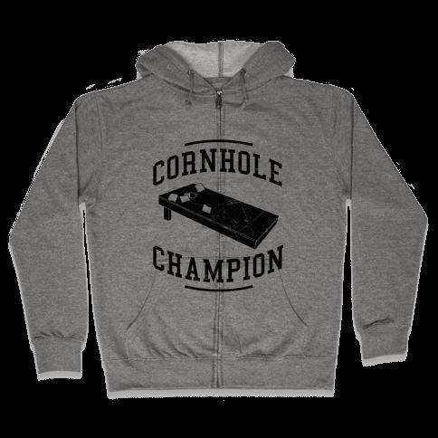 Cornhole Champion Zip Hoodie