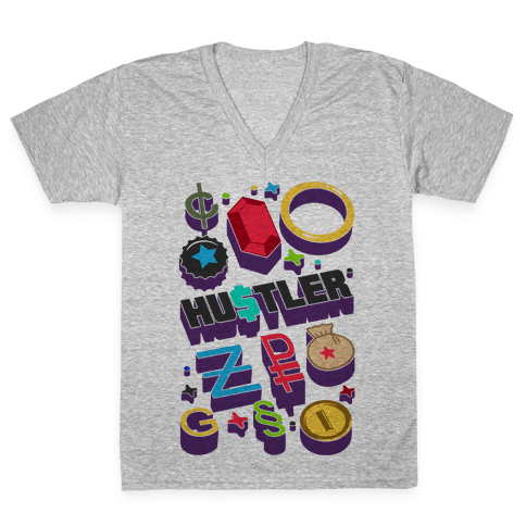 Game Money Hustler V-Neck Tee Shirt
