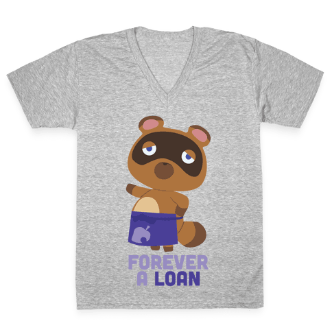 Forever A Loan V-Neck Tee Shirt