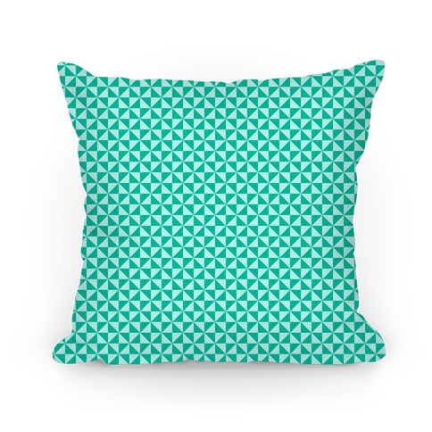 Teal Pinwheel Pattern Pillow
