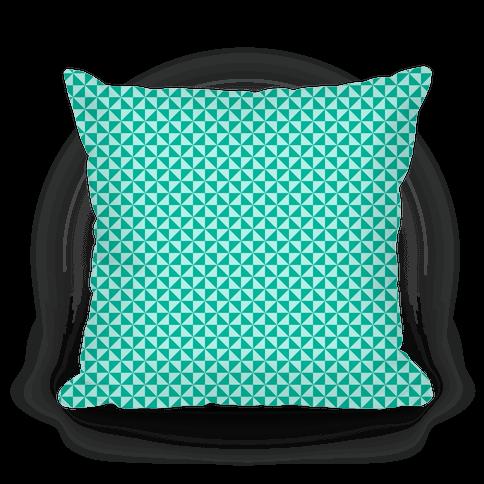 Teal Pinwheel Pattern