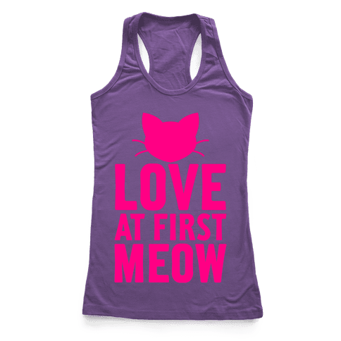 Love At First Meow Racerback Tank Top