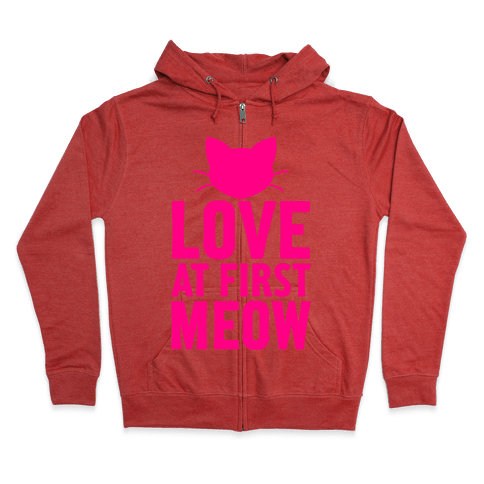 Love At First Meow Zip Hoodie