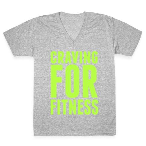 Craving for Fitness V-Neck Tee Shirt