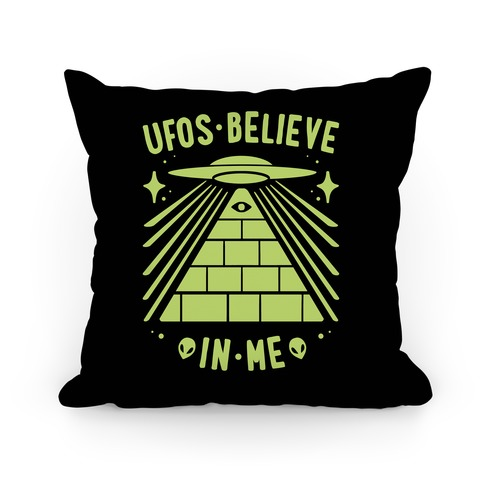 UFOS Believe In Me Pillow